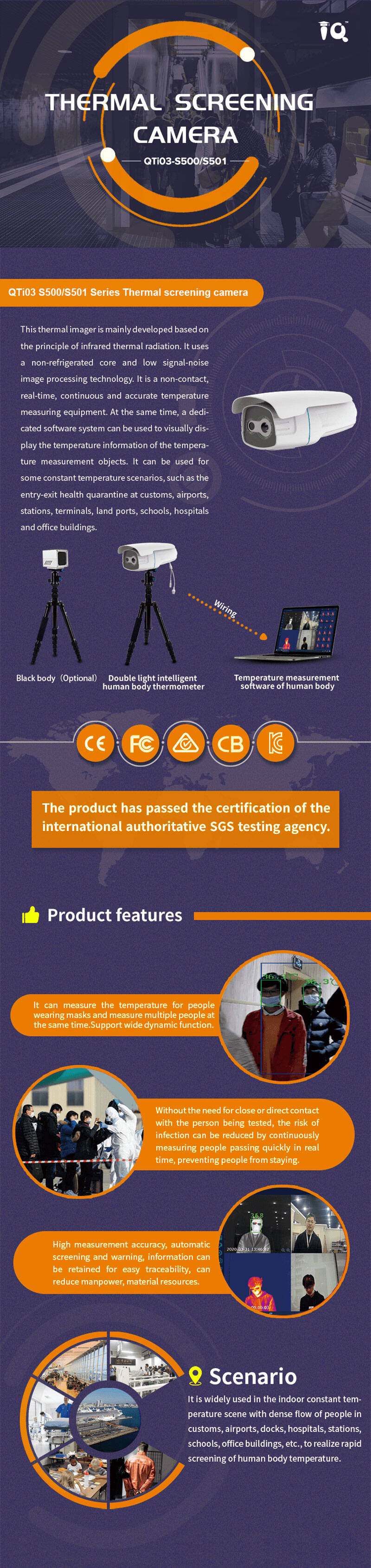 IQInfrared Thermal Scanning Camera